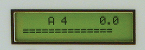 standard Accu-Tuner IV display